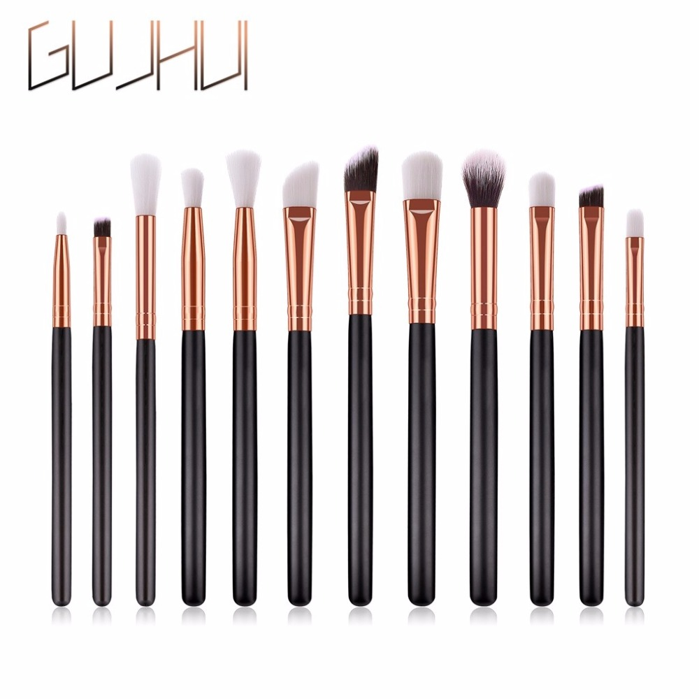 12pcs Eye Brush Beauty Jessup High-end Wooden Handle Makeup Brushes Eye Shadow Brush Makeup Brush Set Pinceaux Maquillage Relieving Heat And Sunstroke