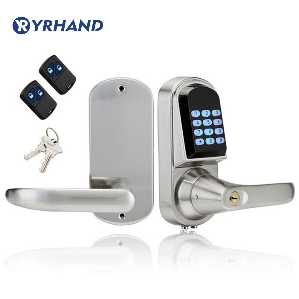 Waterproof Gate Lock Mini Electronic Code Keypad Digital Door Lock remote control door lockWaterproof Gate Lock Mini Electronic Code Keypad Digital Door Lock remote control door lock
