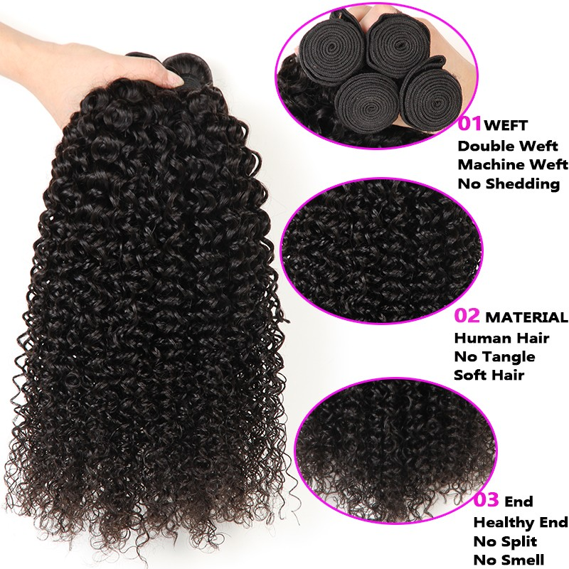 Top Malaysian Curly Hair With Closure 3 Bundles With Frontal Closure Curly Annabelle Hair 10A Malaysian Kinky Curly Virgin Hair