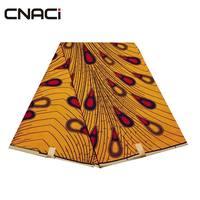 CNACI Veritable Wax Hollandais Ankara Fabric 6 Yds Super Polyester Wax Hollandais African Fabric Nigeria Batik For Wedding Dress