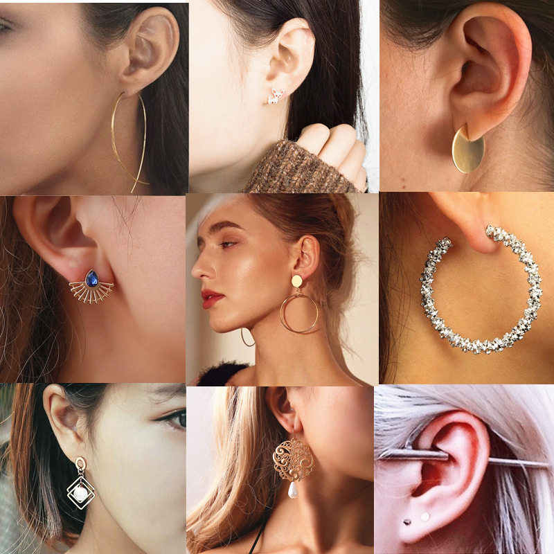Ufavoirte Fashion Multi-Color round Drop Earrings Women Gold Color Maxi Statement Earrings Wedding Party Jewelry Christmas