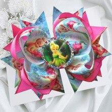 10 шт. 5,5 А-принцесса Бант Аксессуары для волос мультяшный персонаж значок «Принцесса» Эльза Анна молочная королева милые заколки для волос с бантами