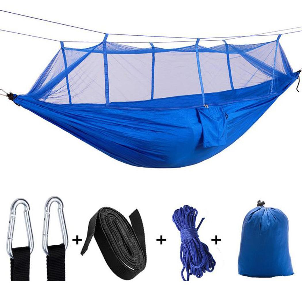 Outdoor Hanging Hammock with Mosquito Net Hiking Travel Camping 2 Person Solid 200KG Tent All SeasonOutdoor Hanging Hammock with Mosquito Net Hiking Travel Camping 2 Person Solid 200KG Tent All Season