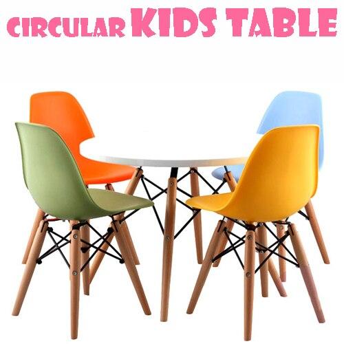 מדהים Wood small round tables play toys for children to learn desk desk OZ-89