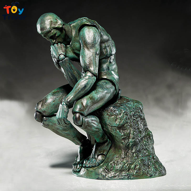 15cm The Thinker Action Figure Figma SP056 PVC Model Toys Doll Movable Japanese Anime Figures Birthday Christmas Gift Triver metal gear solid action figure sons of liberty figma 298 soldier pvc toy 16cm anime games figures snake collectible model doll