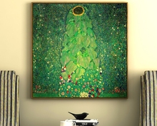 The Sunflower Gustav Klimt Hand painted handmade Oil Painting Reproduction Giclee Copy Canvas Wall Art Pictures Home Decor