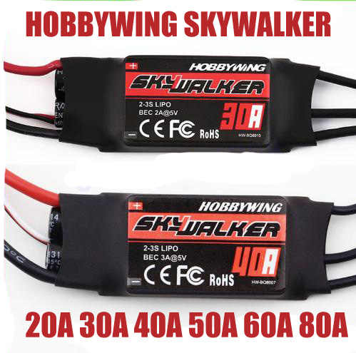 1pcs Skywalker 15A 20A 30A 40A 50A 60A 80A ESC Speed Controler Met UBEC Voor RC FPV Quadcopter RC vliegtuigen Helikopter