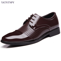 Plus Big Size 45 46 47 48 Men Business Leather Shoes Pointed Toe Formal Dress Shoes