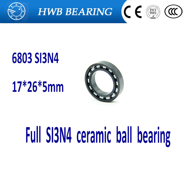 Free shipping 6803 full SI3N4 ceramic deep groove ball bearing 17x26x5mm 61803 bearing free shipping 6901 61901 si3n4 full ceramic bearing ball bearing 12 24 6 mm