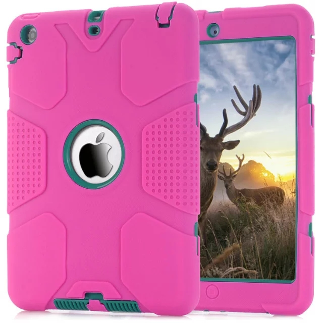 New 2 generation For iPad mini 1/2/3 Safe Armor Shockproof Heavy Duty Silicone Hard Case Cover Screen Protector Film+Stylus Pen