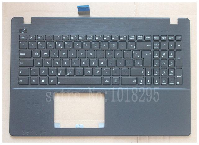 Nova br teclado do portátil para asus x550 x550v x550c x550vc x550j k550v a550l y581c f550 r510l brasil palmrest cobertura