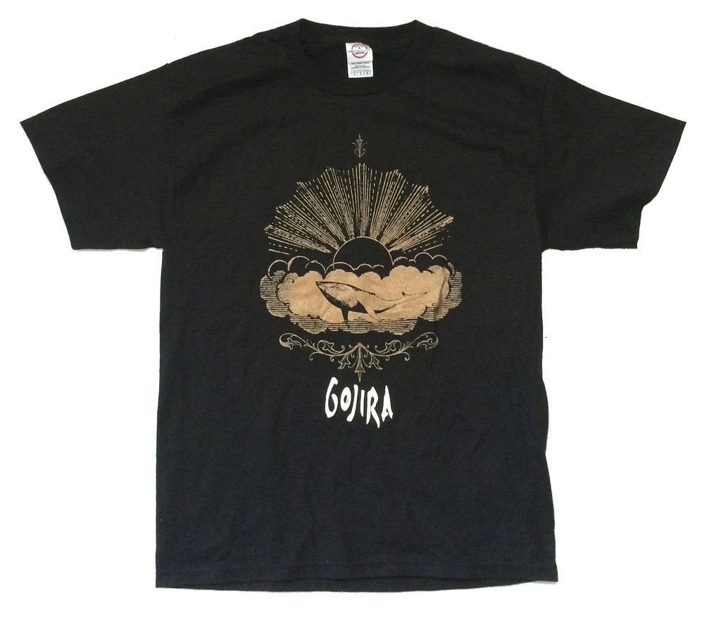 Gojira Mars to Sirius Tour 2007 USA Canada Black T Shirt New NOS Official 2017 New Fashion MenS T-Shirts Short Sleeve
