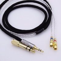 Black 5N OCC Silver Plated Hifi cable Headphone Upgrade Cable for Hifiman He-5 He-6 He-400 He-500 He560