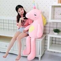 110/140 cm Soft Rainbow Unicorn Plush Toy Adorable Plush Unicorn Stuffed Animal Unicorn Plush Toys For Children