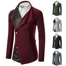 Men Winter Long Coats Pure Color Casual Fashion Jackets Men Overcoat 5 Colors