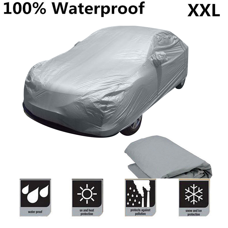 Universal Car Cover Water Rain Dust Snow Sun proof Antiscratch Seamless Cover Size XXL High quality covers protectors For auto