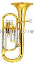 Three Pistons Baritone Bb Tone Brass Body Lacquer With ABS case Orchestral Musical Instruments Shipping time 10-15 days