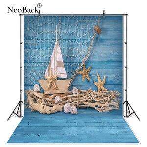 NeoBack голубой деревянный фон для фотосъемки тканевый фон для фотостудии рыболовные сети стенд уникальный дизайн фото фон P1327
