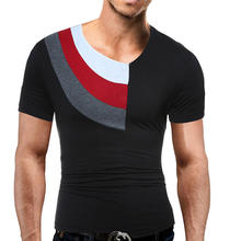 Mens Tshirt Novelty Short Sleeve Muscle Tee Boys Summer Tee Patchwork Cool Untral Thin Crewneck Tops Grey Black White 1162