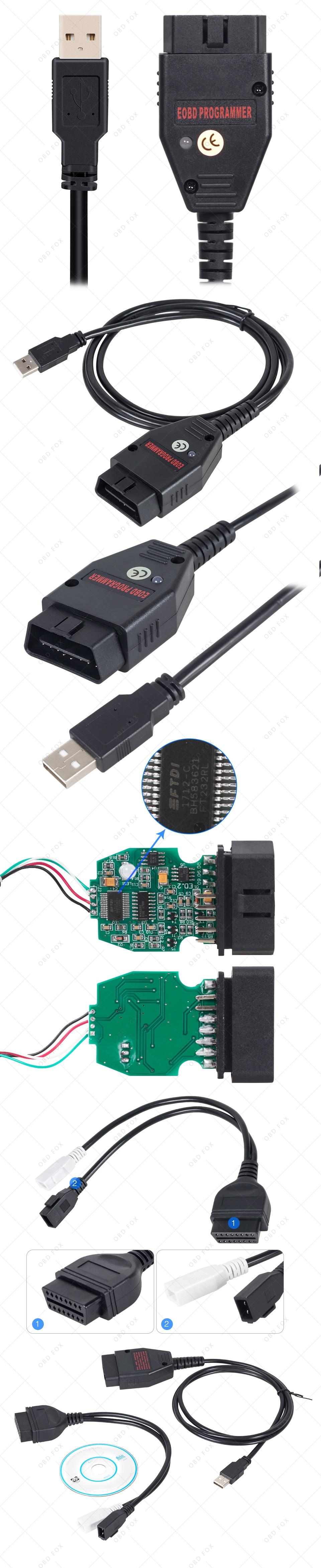 Galletto 1260 ECU Chip Tuning Tool EOBD/OBD2/OBDII Flasher Galleto 1260 ECU  Flasher with FTDI FT232RL engine tuning