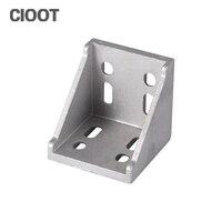Free Shipping 6060 Corner Bracket 60x60 Angle Aluminum Connector Bracket L Industrial Aluminum Profile Tools
