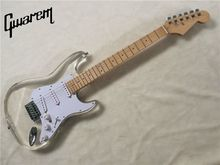 Electric guitar/Gwarem new st Colorful LED guitar/Acrylic body/clear color/guitar in china
