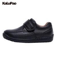 KAlUPAO Primavera Verão Outono Inverno criança/Menino/criança 100% Couro SchoolShoes Franja Flats Calçados Casuais de Couro Preto Sólido cor