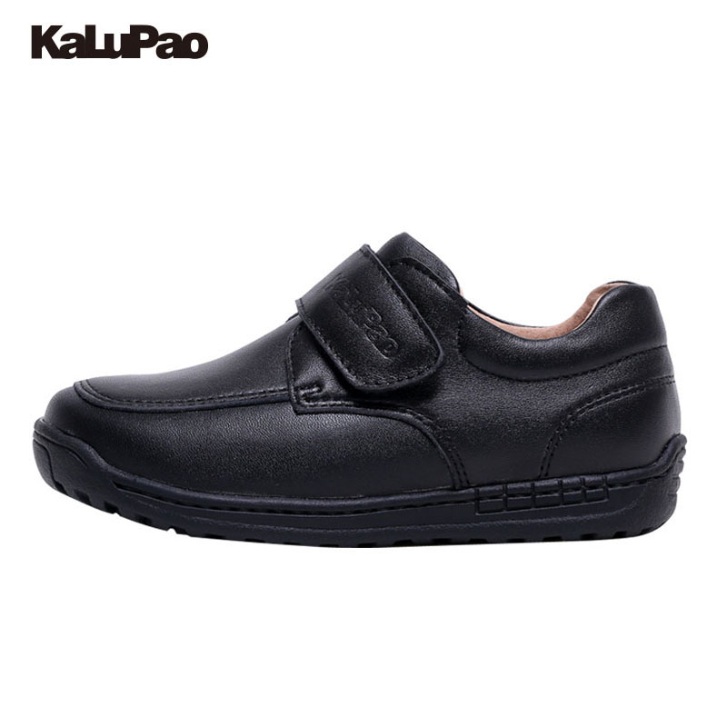 KAlUPAO Spring Summer Autumn Winter child/Boy/kid 100% Cowhide Leather SchoolShoes Fringe Flats Casual Shoes Black Solid color muse solid black fringe trim kimono