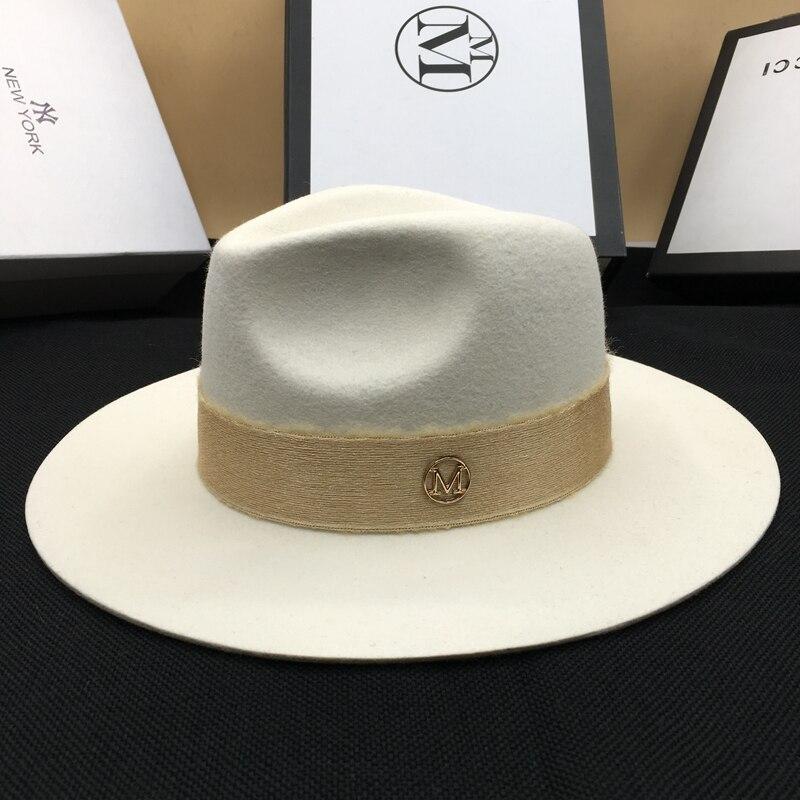 Autumn wool White male temperament dame cap hat felt hat joker panama  restoring ancient ways c97288e7915