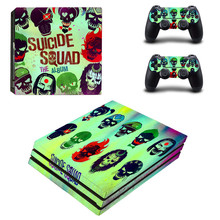 Cool Suicide Squad Joker PS4 pro Skin Sticker For Sony Playstation 4 Promotion Console & 2Pcs Controller Protection Film