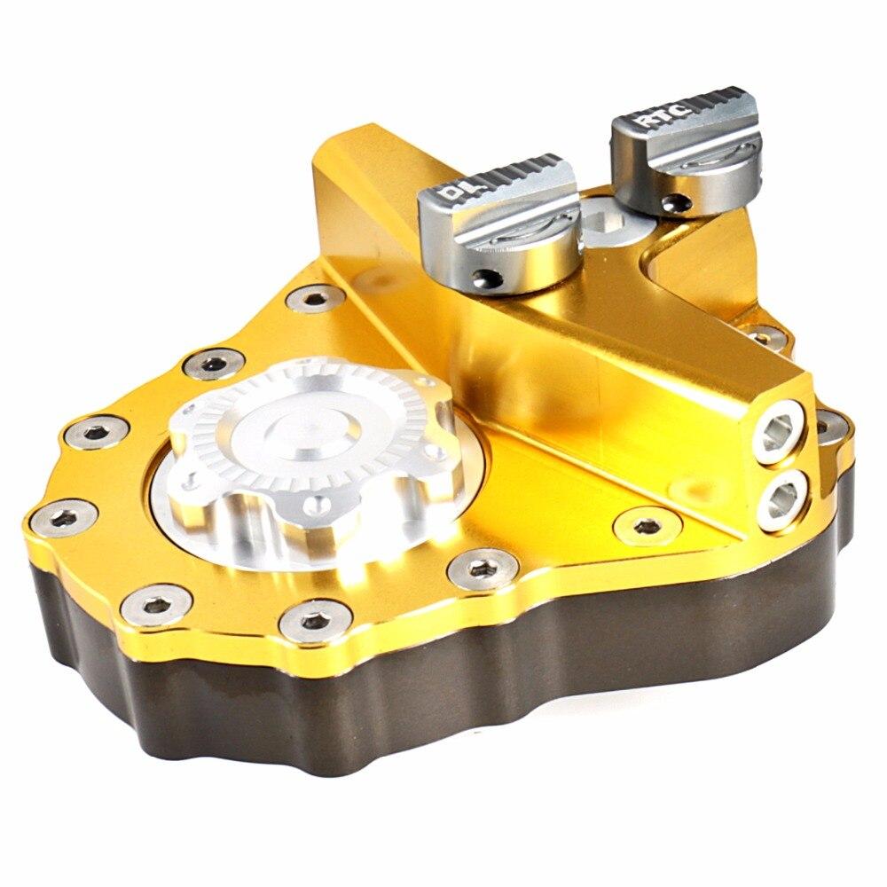 Commandes de sécurité réglables de stabilisateur d'amortisseur de direction de moto pour Husaberg 09-14 Husqvarna 14-16 FE/TE 17 KTM Offroad 05-16