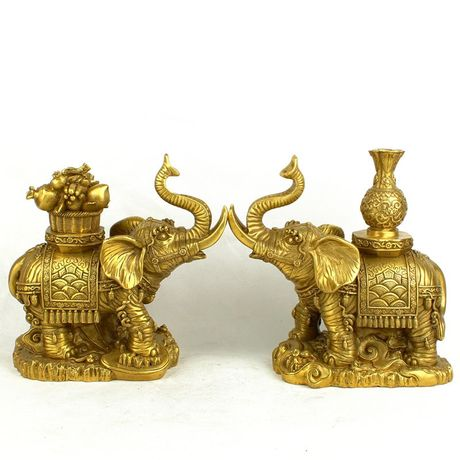 a copper copper rich lucky elephant elephant christmas ornaments like precious wealth of attracting money na in statues sculptures from home garden on