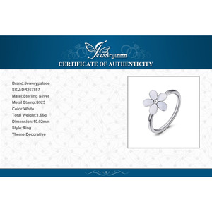 Image 5 - Jewelrypalace Elegante Daisy Weiß Emaille 925 Sterling Silber Ring Frühling Blumen Jahrestag Geschenk Frauen Mode Schmuck Neue