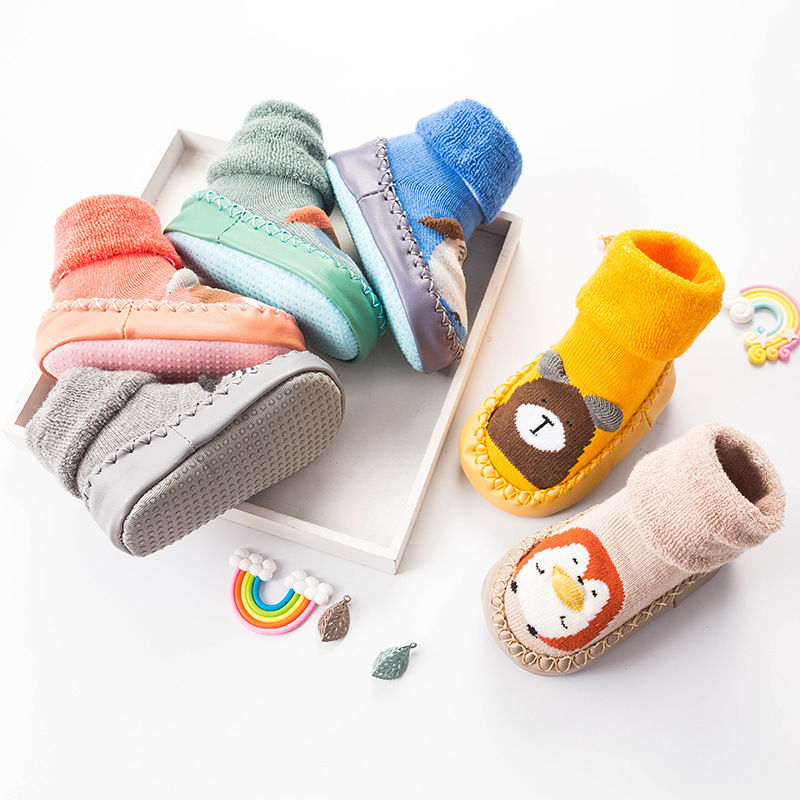 Joyo Roy 2018 New Baby Floor Socks Autumn And Winter Terry Cloth Thickened Baby Slip-Resistant Socks Cotton Baby Walking Shoes