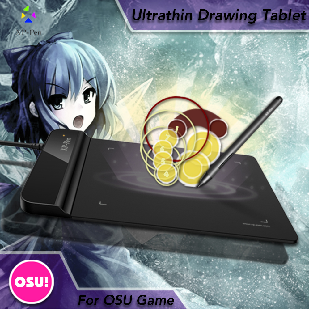 The XP-Pen G430 4 x 3 inch Ultrathin Graphic Drawing Tablet for Game OSU and Battery-free stylus- designed! Gameplay