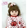 NPK 60 см очень большой От 6 до 9 месяцев reborn tollder Кукла adora реалистичный Новорожденный ребенок кукла ребенок игрушка девочка силикон reborn baby dolls