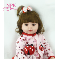 NPK 60cm very big 6 9Month reborn tollder doll adora Lifelike newborn Baby Bonecas Bebe kid toy girl silicone reborn baby dolls