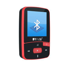 New Mini Clip Sport MP3 Player RUIZU-X50 Portable 8GB FM Radio Pedometer Multi-funcation Bluetooh HiFi MP3 Music Player Red