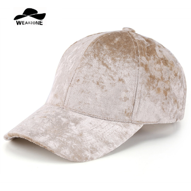 bc3237eb32eb5e 2017 Wearzone Spring Winter Velvet Baseball Cap Women Casequtte Gorras  Snapback Men Bone Pure Caps Flat Hats Drake 6 Panel CAP