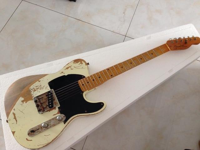 Handmade Relic electric guitar  humbucker pickups TL electric guitar Ash body 1