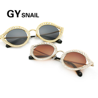 GY Snail Fashion Sunglasses Women Round Brand Designer Vintage Dimond FrameClassic Round Sun Glasses Fro Women