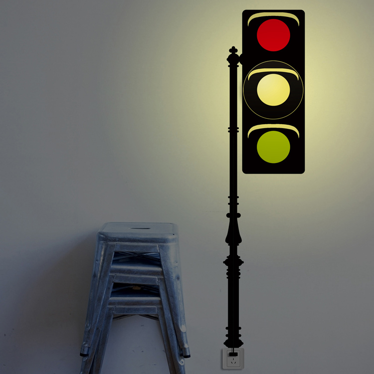New Creative Traffic Light AC VV Wall Light DIY Wall - Traffic light for bedroom
