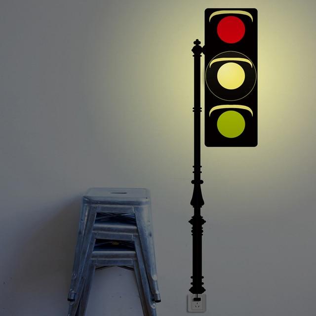 New Creative Traffic Light AC 110V 220V Wall DIY Stickers For Living Room