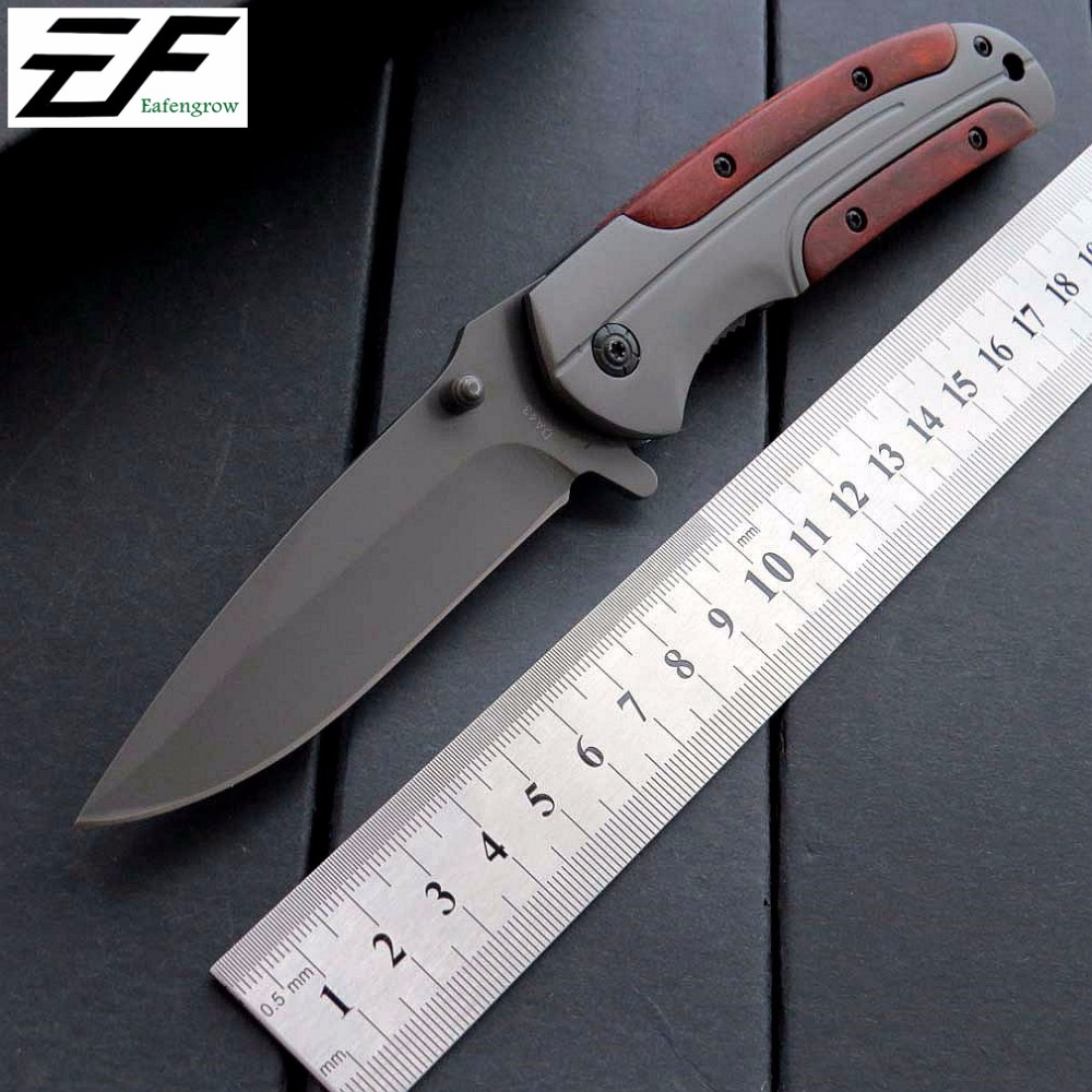 Eafengrow DA43 Folding Knives 3Cr13Mov Blade Steel Rosewood Handle Knife Camping Survival Pocket Outdoor Hunting Knife