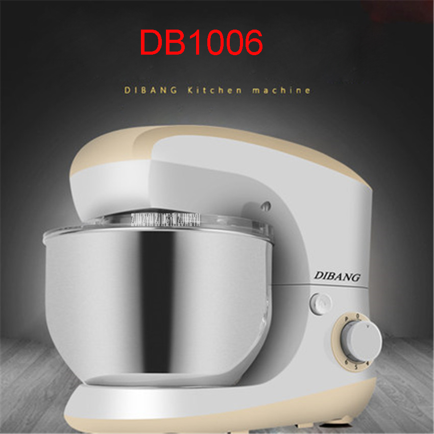 220V/50 Hz DB1006 multifunctional stand mixer 5.5L food mixer dough mixer stainless steel Barrel Desktop, Speed 20000r / min платья nagotex платье