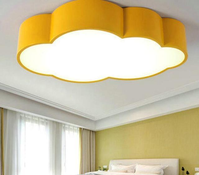 led cloud kinderkamer verlichting kinderen plafondlamp baby plafond licht met geel blauw rood wit voor jongens
