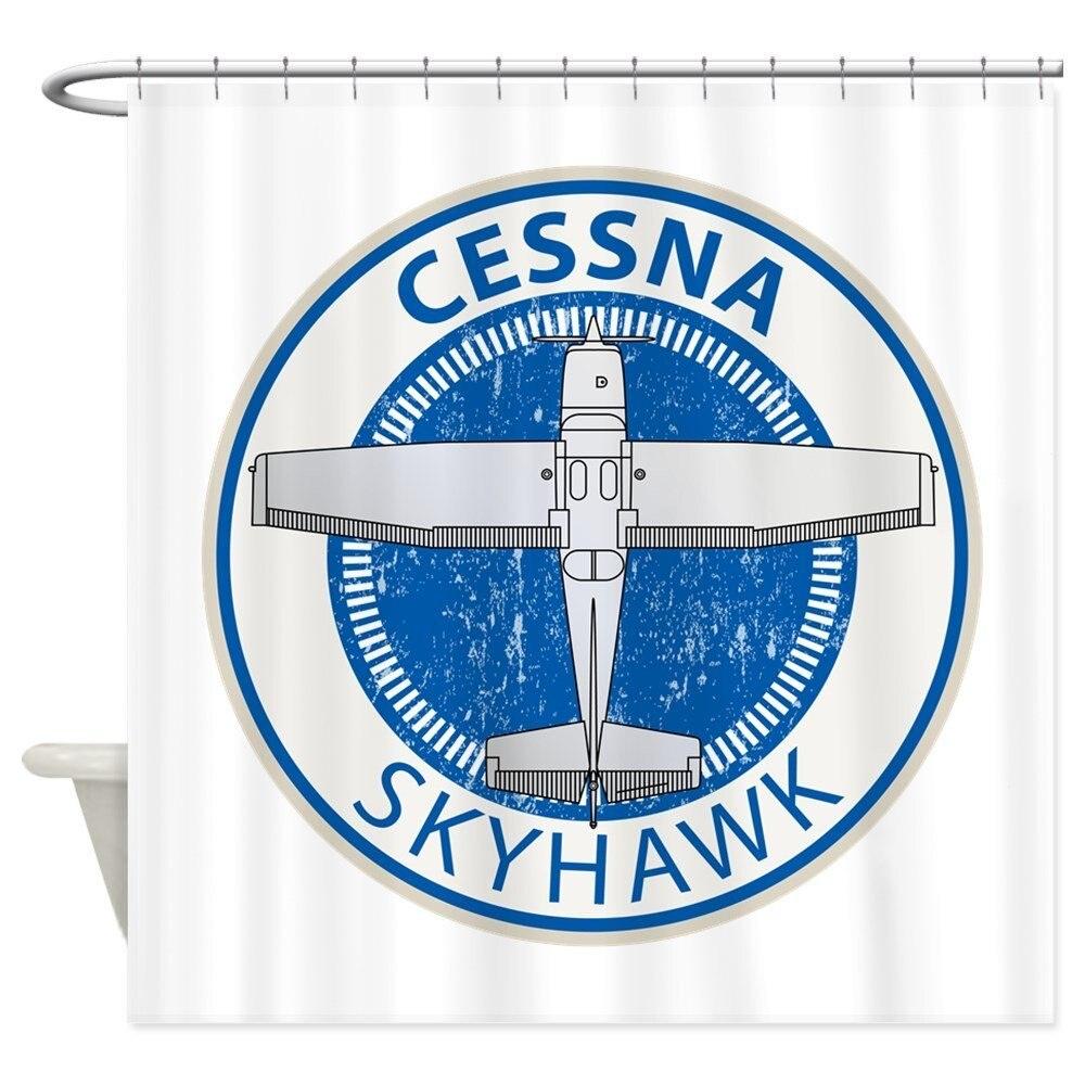 Aviation Cessna Skyhawk - Decorative Fabric Shower Curtain (69x70)