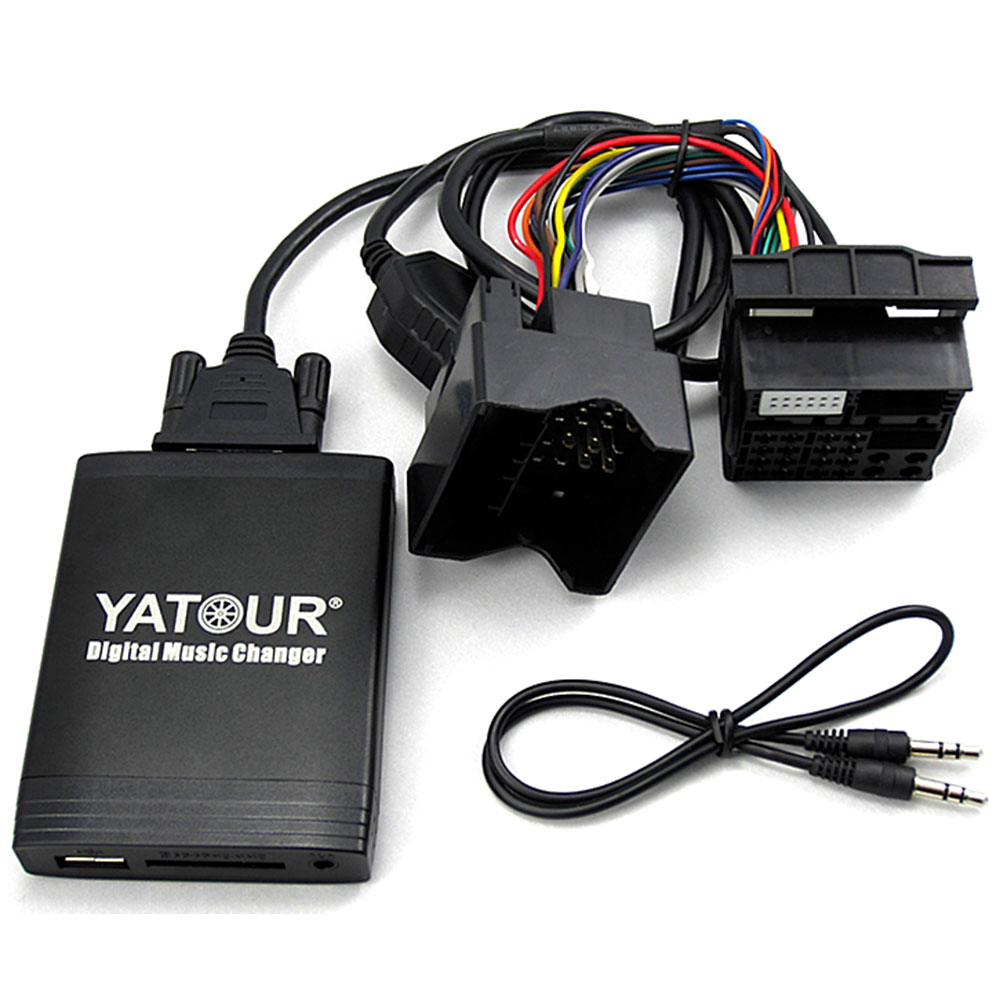 USB MP3 AUX Adapter BMW E39 Z4 E85 E83 X5 E53 Business CD Quadlock