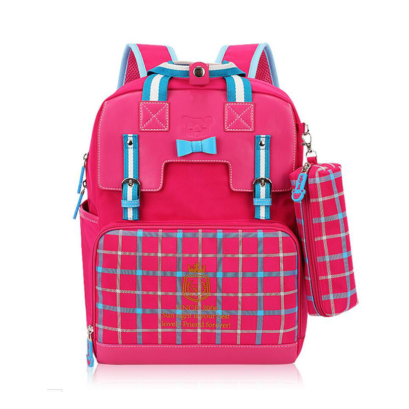 44a10129d7 Cartoon School Backpack 2017 New Lattice 7 10 years old Children Boys And Girls  Lovely Cartoon Schoolbag Backpacks YSW325-in Backpacks from Luggage   Bags  ...