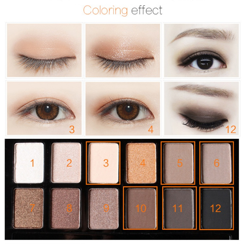 12 colors eye shadow makeup shimmer matte eyeshadow earth color eyeshadow palette cosmetic makeup set nude eye shadow in eye shadow from beauty health on - Earth Colors